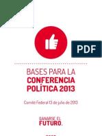 BasesConferenciaPoliticaOrganizacion