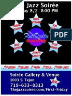 The Jazz Soirée Friday  August 2 Presents FluteDaddy Blues Edition