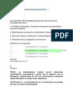 Evaluación Nacional Intersemestral 2012