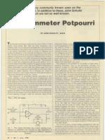 An Ohmmeter Potpourri