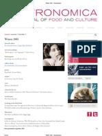 Gastronomic Index