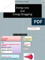 Energy Loss and Energy Straggling