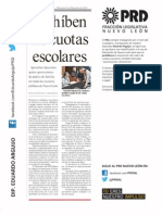 Periódico Oficial del Estado - Se prohíben cuotas escolares