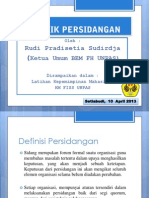 Materi Teknik Persidangan Dalam Organisasi