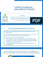 Developing Courses in Peace and Conflict Studies