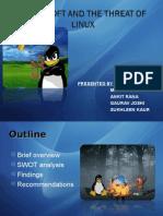 Linux vs. Microsoft presentation on strategy marketing