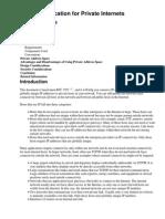 Address Allocation for Private Internets