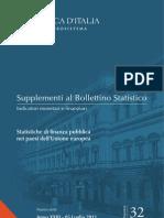 Statistiche Di Finanza Pubblica Nei Paesi Dell'Unione Europea