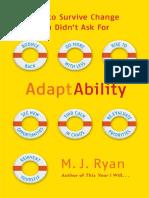 AdaptAbility, by M.J. Ryan - Excerpt