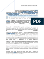 CONTRATO DE COMISSÃO MERCANTIL