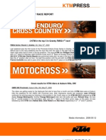 Ktmpress Ktm Canada Weekly Race Report for Immediate Release
