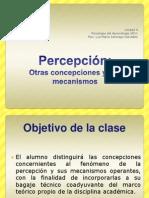 Percepción, mecanismos