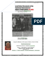 History and Select Documents of the Provisional Government of the REPUBLIC of NEW AFRIKA
