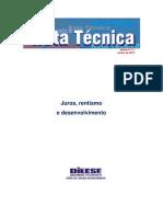 Nota Tecnica 111 Juros, Rentismo e Desenvolvimento.pdf