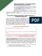 Alíquota Zero para PIS e COFINS s. Rec. Financeiras