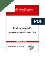 Teoría de Integración. Menéndez Conde - Lara