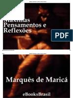 Máximas, Pensamentos e Reflexões - Marquês de Maricá