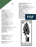 Mikkeller Bar Draft List
