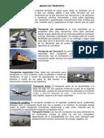 MEDIOS de TRANPORTE y Vias de Comunicacion