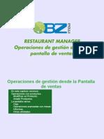 Operaciones de gestión desde la pantalla de ventas