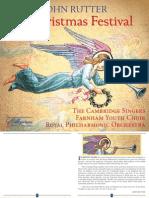 John Rutter - A Christmas Festival CD Booklet