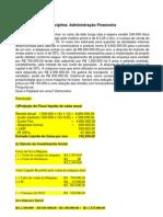 exercício adm financeiro