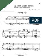 Krenek - Twelve Short Piano-Pieces Written in the Twelve-Tone Technique Op83