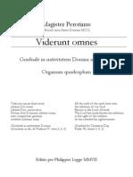Perotinus Viderunt Omnes PML