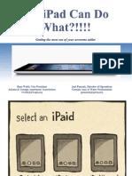 GSAE iPad Talk - July 2013