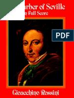 Rossini - Il Barbiere Di Siviglia (Full Score)
