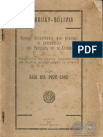 PARAGUAY BOLIVIA - RAUL DEL POZO CANO - ASUNCION 1927 - PORTALGUARANI