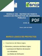DGPM Marco Logico Julio 2008