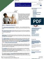 Pt Ed Birth Defects & Nutrition CDC
