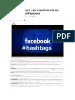 7 Consejos Para Usar Con Eficiencia Los Hashtags en Fb