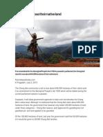 Orang Asli to Lose Their Native Land