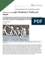 Página_12 __ El mundo __ Juicio a Google, Facebook y Twitter por espiar