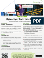 ManageEngine Opmanager Enterprise Datasheet
