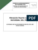 Informe Mantto Planta de Inyecciones