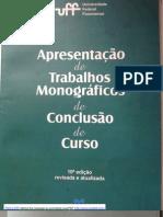 apresentação de trabalhos monograficos de conclusão de curso UFF