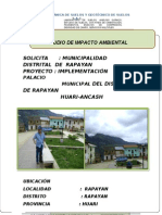 Inf 014 e.i.a Ambiental Palacio Municipal Rapayan
