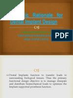 Scientic Rationale for Dental Implant Design