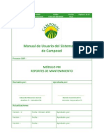 Manual de Usuario PM-050 Reportes de Mantenimiento