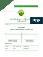 Manual de Usuario PM-046 Planes Mantto Preventivo