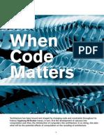 when code matters