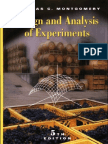 117347959 Douglas c Montgomery Design and Analysis of Experiments 5th Edition 2000
