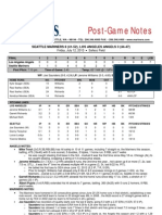 07.12.13 Post-Game Notes