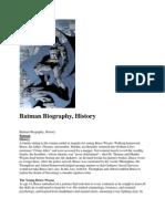 Batman Biography