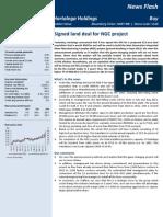 Alliance Hartalega NGC Land Acquisition June 2013