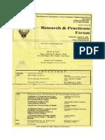 De La Salle University, Research & Practicum Forum '98
