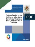 Factores Familiares que inciden en la conducta disruptiva y violenta de los niños